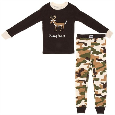 Lazy One Young Buck Cotton Pajamas for Boys