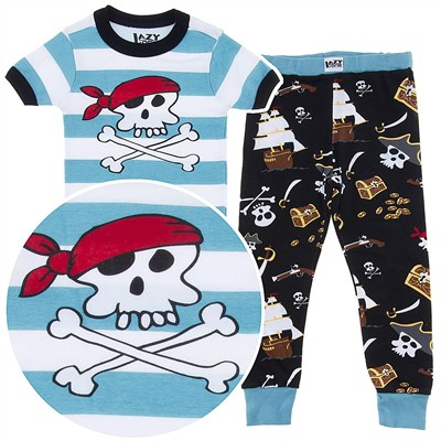Lazy One Pirate Cotton Pajamas for Toddler Boys