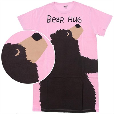 Lazy One Pink Bear Hug Nightshirt for Women