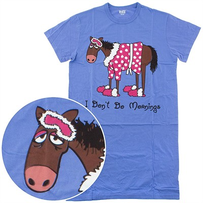 Lazy One I Don't Do Mornings Horse Nightshirt for Women