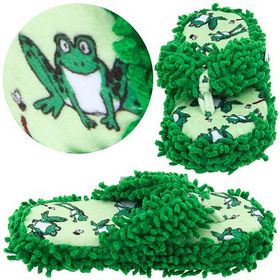 Lazy One Frog Fuzzy Thong Slippers for Women
