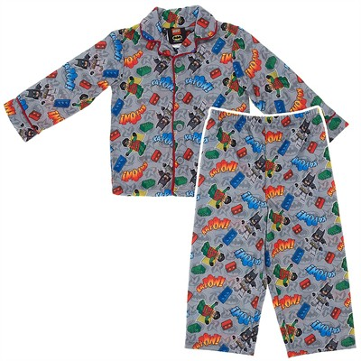 Lego Batman and Robin Coat-Style Pajamas for Toddler Boys