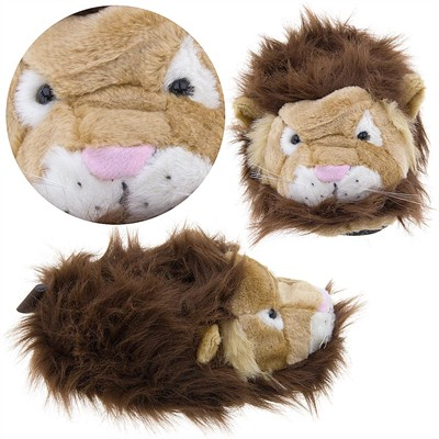 Lion Fuzzy Animal Slippers for Women