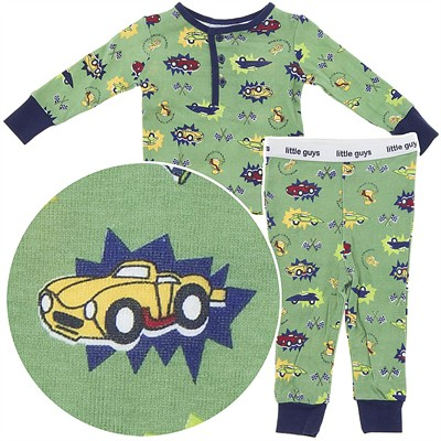 Little Guys Race Car Cotton Pajamas for Infant Boys