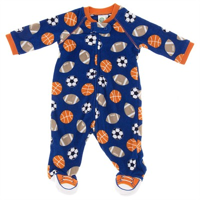 Little Me Sports Footed Pajamas for Baby Boys