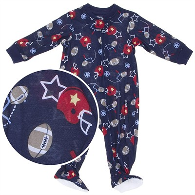Little Me Football Lightweight Footed Sleeper for Baby Boys