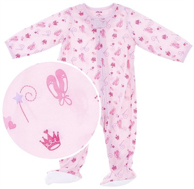 Little Me Princess Lightweight Footed Sleeper for Baby Girls