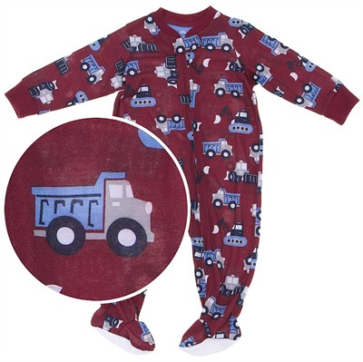 Little Me Dump Truck Lightweight Footed Sleeper for Baby Boys