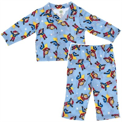 Little Me Super Monkey Pajamas for Baby Boys