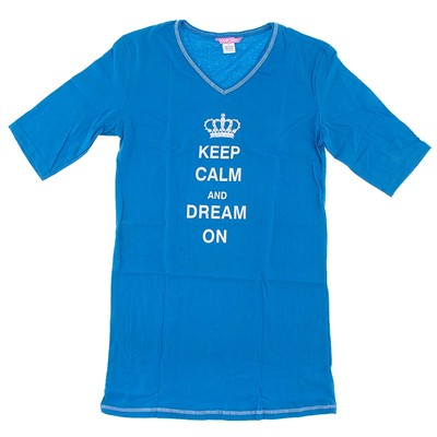 Blue Keep Calm Dream On Nightshirt for Women