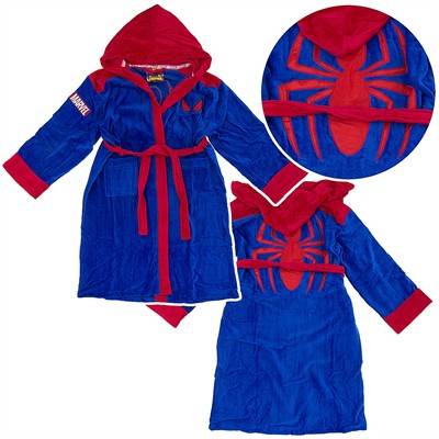 Spider-man Blue Hooded Terry Bath Robe for Men