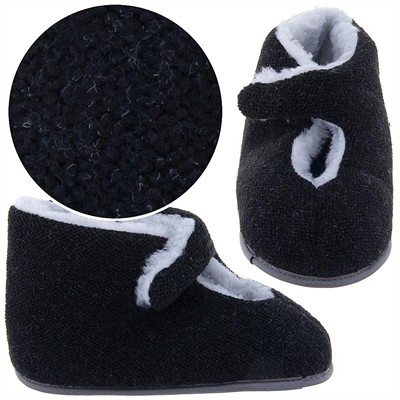 Black Bootie Slippers for Men