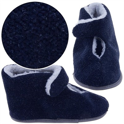 Navy Bootie Slippers for Men