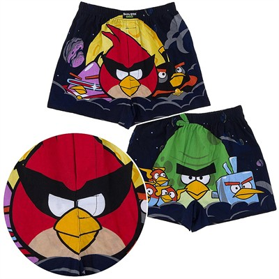 Angry Birds Black Space Boxer Shorts for Men