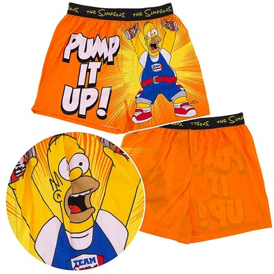 Homer Simpson Pump It Up Boxer Shorts for Men