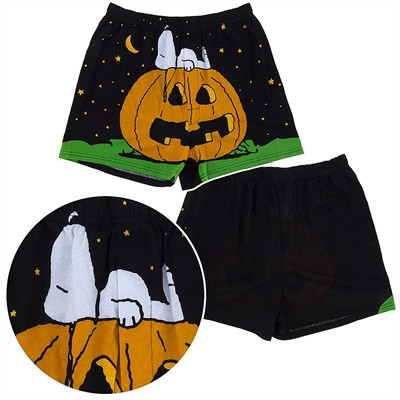 Snoopy Jack-o-Lantern Boxer Shorts for Men