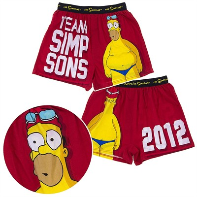 Team Simpsons 2012 Boxer Shorts for Men