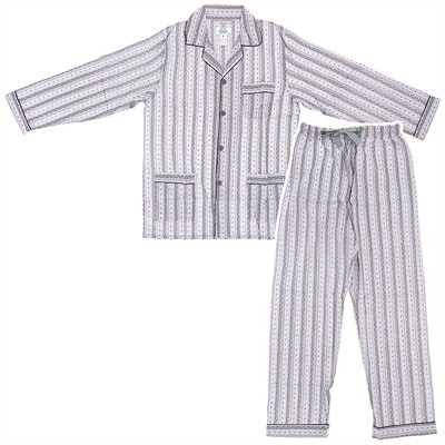 Plum Broadcloth Pajamas for Men