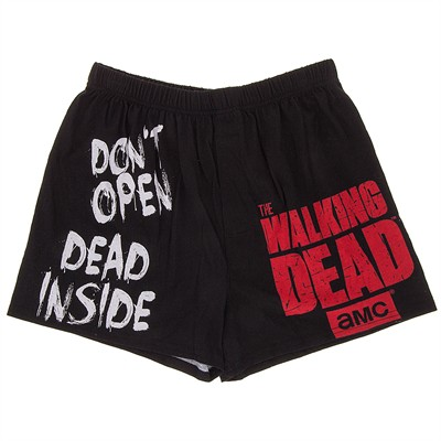 Black Walking Dead Boxer Shorts for Men