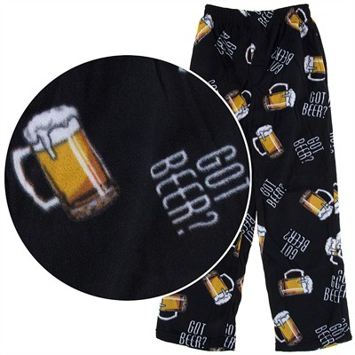 Fun Boxers Got Beer? Fleece Pajama Pants for Men