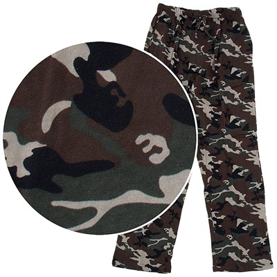 Hanes Camo Cotton Knit Pajama Pants for Men