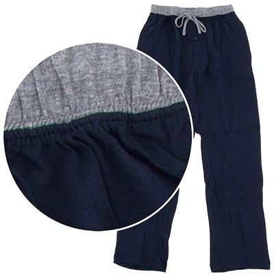 Hanes Navy Cotton Knit Pajama Pants for Men