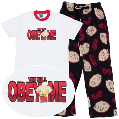 Family Guy Fleece Pajama Set for Men