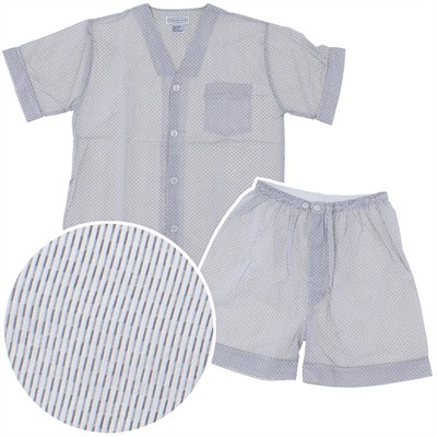 Gray Striped Short Pajamas for Men