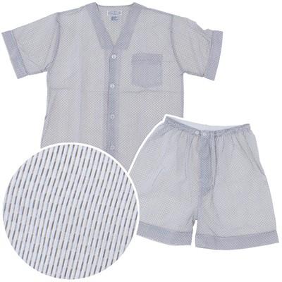 Gray Striped Short Pajamas for Men