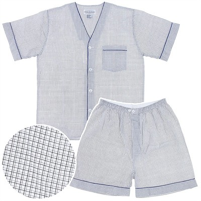 Navy, White, and Gray Short Pajamas for Men