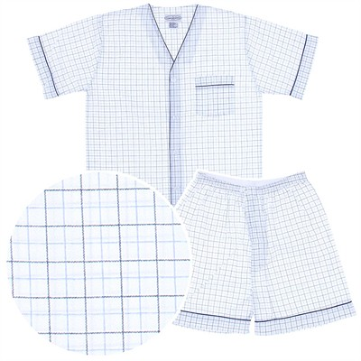 Navy, White, and Blue Short Pajamas for Men