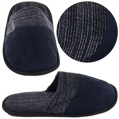 Black Slip On Slippers for Men
