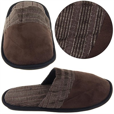 Brown Slip On Slippers for Men