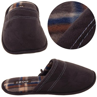 Izod Dark Brown Slip on Slippers for Men