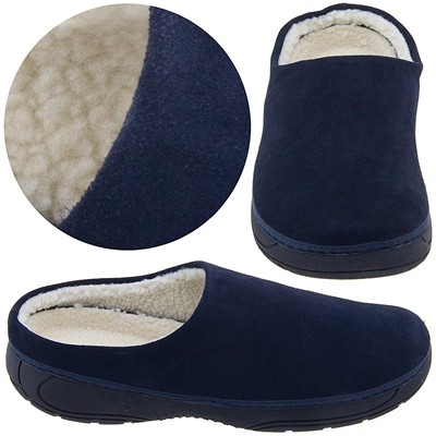 Izod Navy Suede Slippers for Men