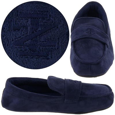 Izod Navy Moccasin Slippers for Men