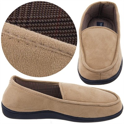 Perry Ellis Taupe Slippers for Men