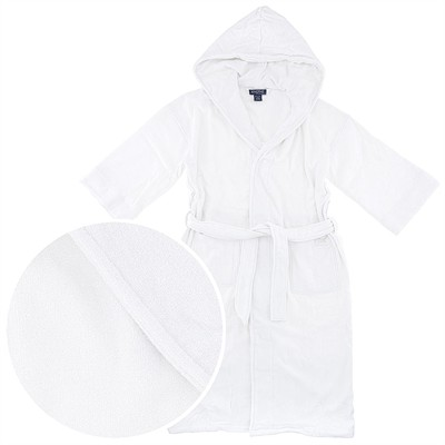 White Hooded Spa Robe for Bathrobe