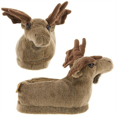 Moose Animal Slippers for Women and Men