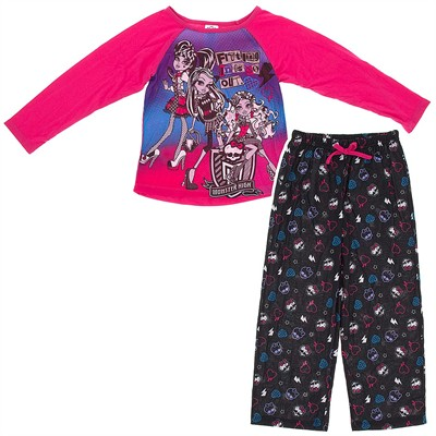 Monster High Pink Fitting In Pajamas for Girls
