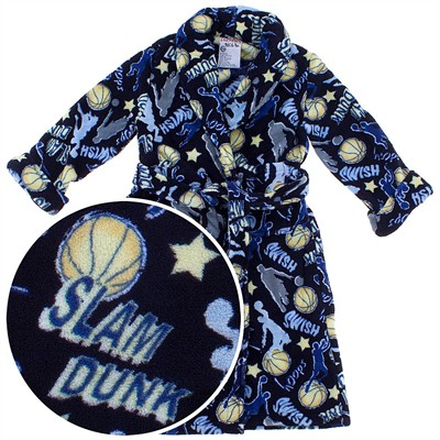 Slam Dunk Basketball Plush Bath Robe for Boys