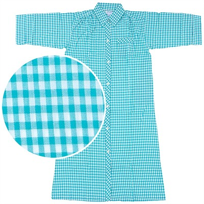 Green Plaid House Coat for Women
