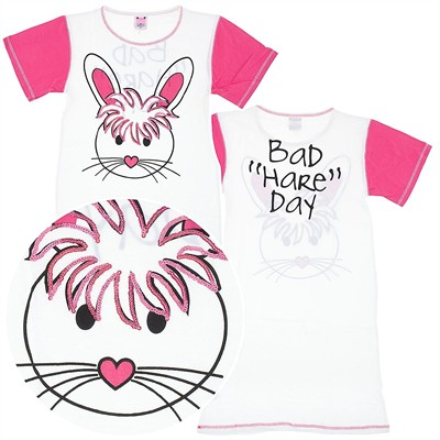 White Bad Hare Day Nightshirt for Women