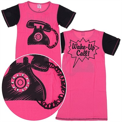 Pink Wake Up Call Nightshirt for Women