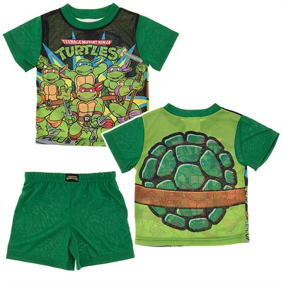 Toddler Boys Ninja Turtle Pajamas With Shell