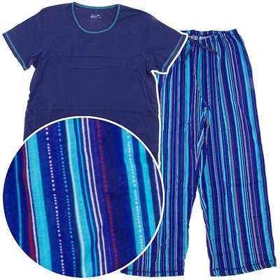 No Nonsense Dark Blue Striped Pajamas for Women