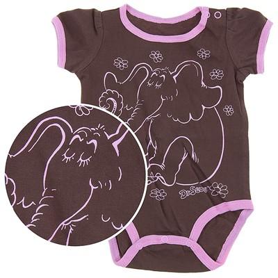Dr. Seuss Brown Horton Onesie for Baby Girls