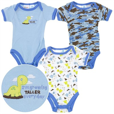 Growing Taller Set of Three Infant Bodysuits