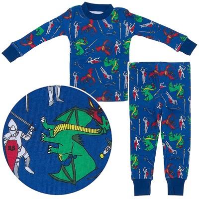 Agabang Dragon Organic Cotton Pajamas for Toddlers and Boys
