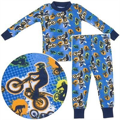 Agabang Motocross Organic Cotton Pajamas for Toddlers and Boys